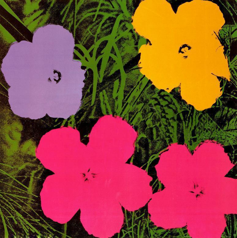 andy warhol fiori