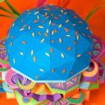 Zim & Zou e il loro coloratissimo hamburger di carta