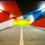 La street art a Saint-Gervais ha invaso un parcheggio