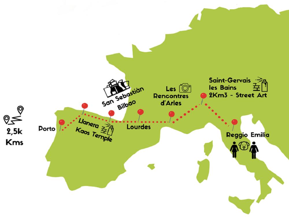 itinerario dall'italia al portogall