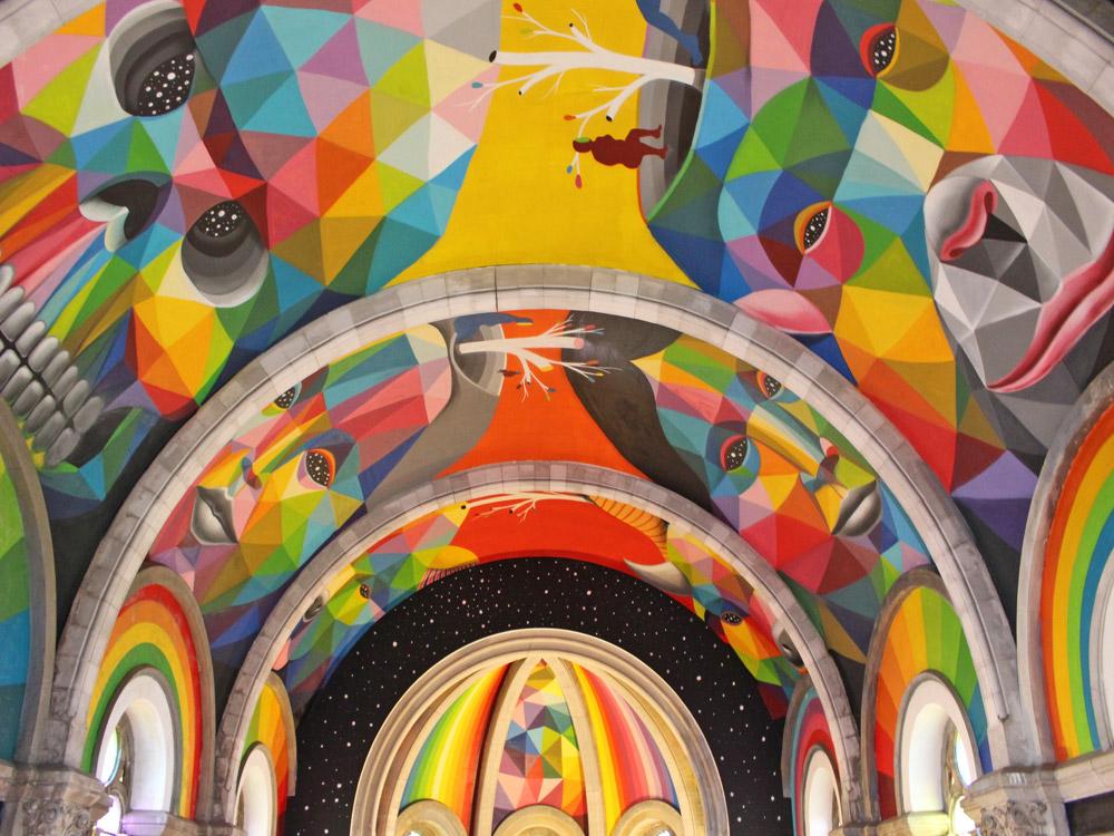 chiesa skate park di okuda spagna street art