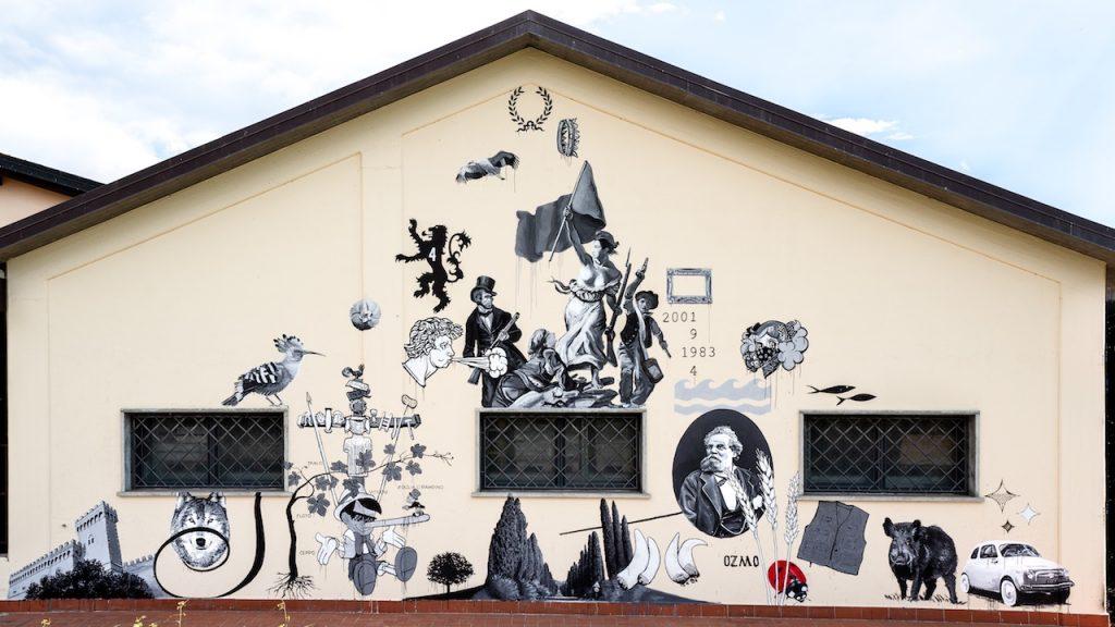 street art e vino ozmo