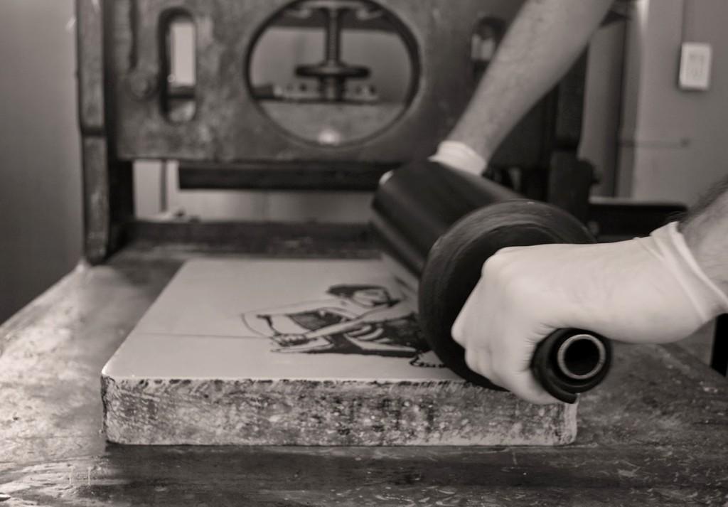 litografia d'arte dettaglio