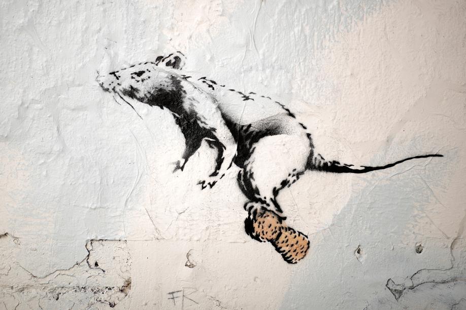 opera distrutta di banksy arte