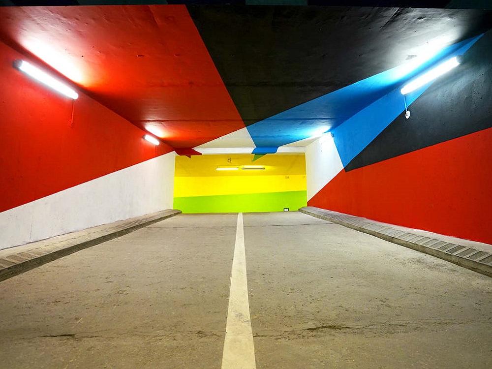 street art nei parcheggi dettaglio saint gervais
