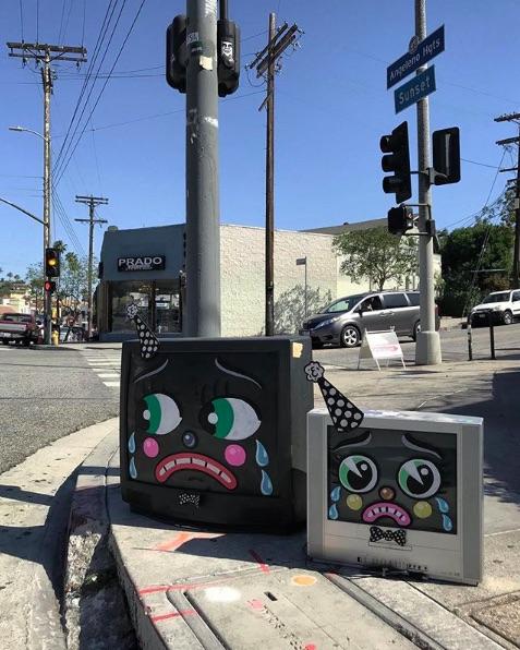 lonesome town street art mobili prendono vita