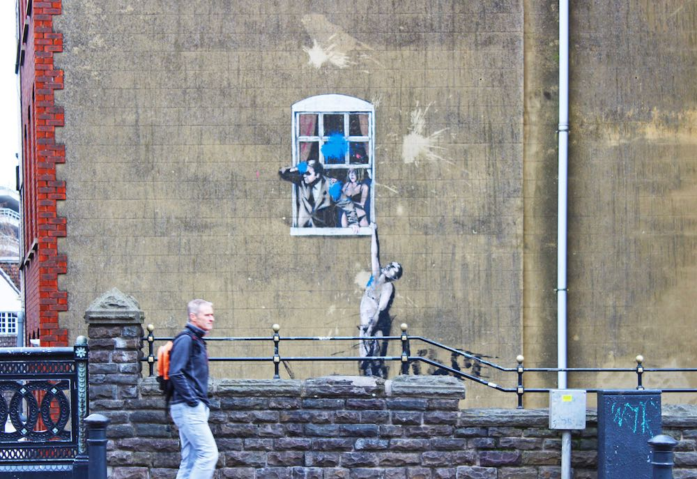 street art a bristol banksy