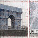 Christo impacchetterà l'Arco di Trionfo con l'opera l'Arc de Triomphe Wrapped