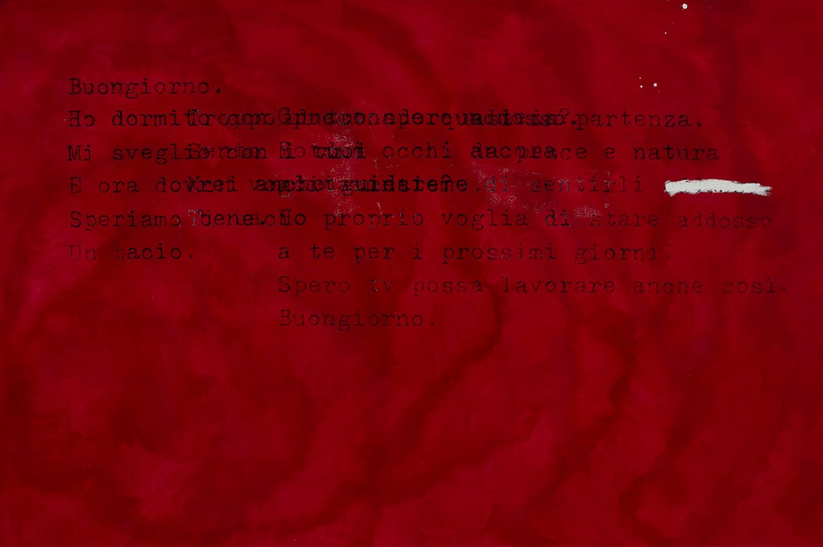 Patrizia Novello, Buongiorno, 2019, idropittura e olio su tela, cm. 100x150, foto Francesca Iovene