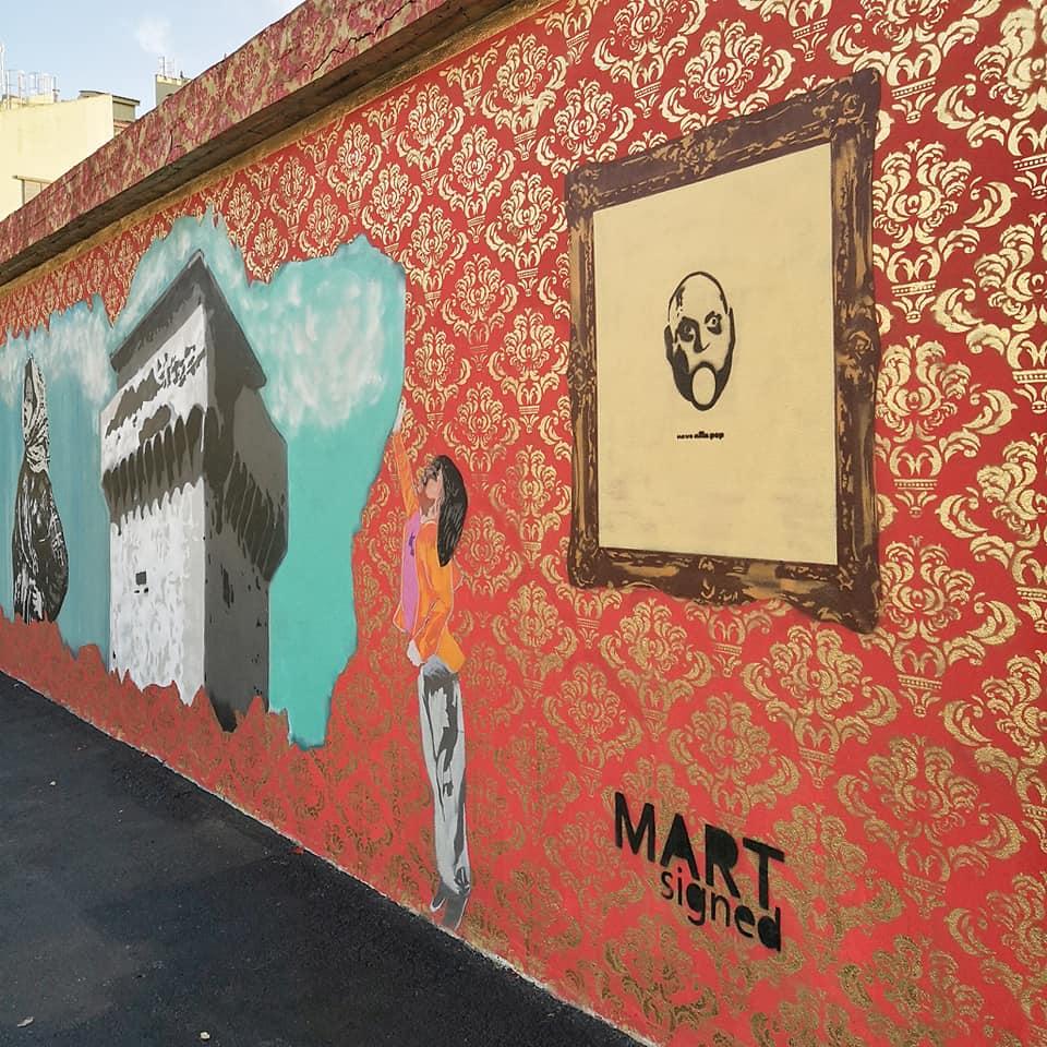 street art a livorno muro mart