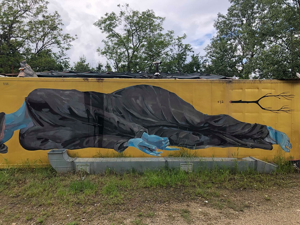 street art a mutonia muro