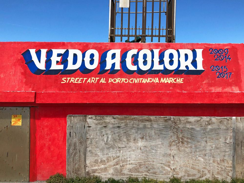 street art porto civitanova marche vedo a colori