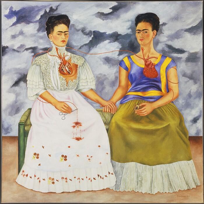 opere famose frida kahlo le due frida