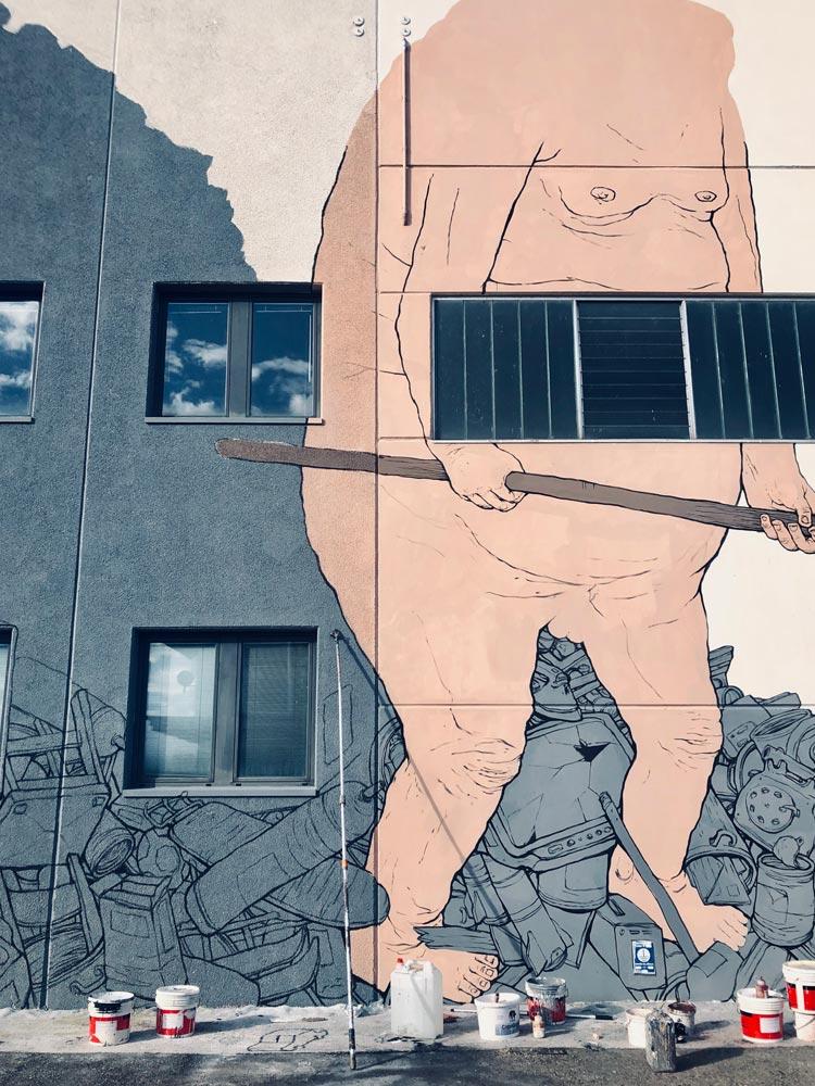 street art reggio emilia orologia nemos