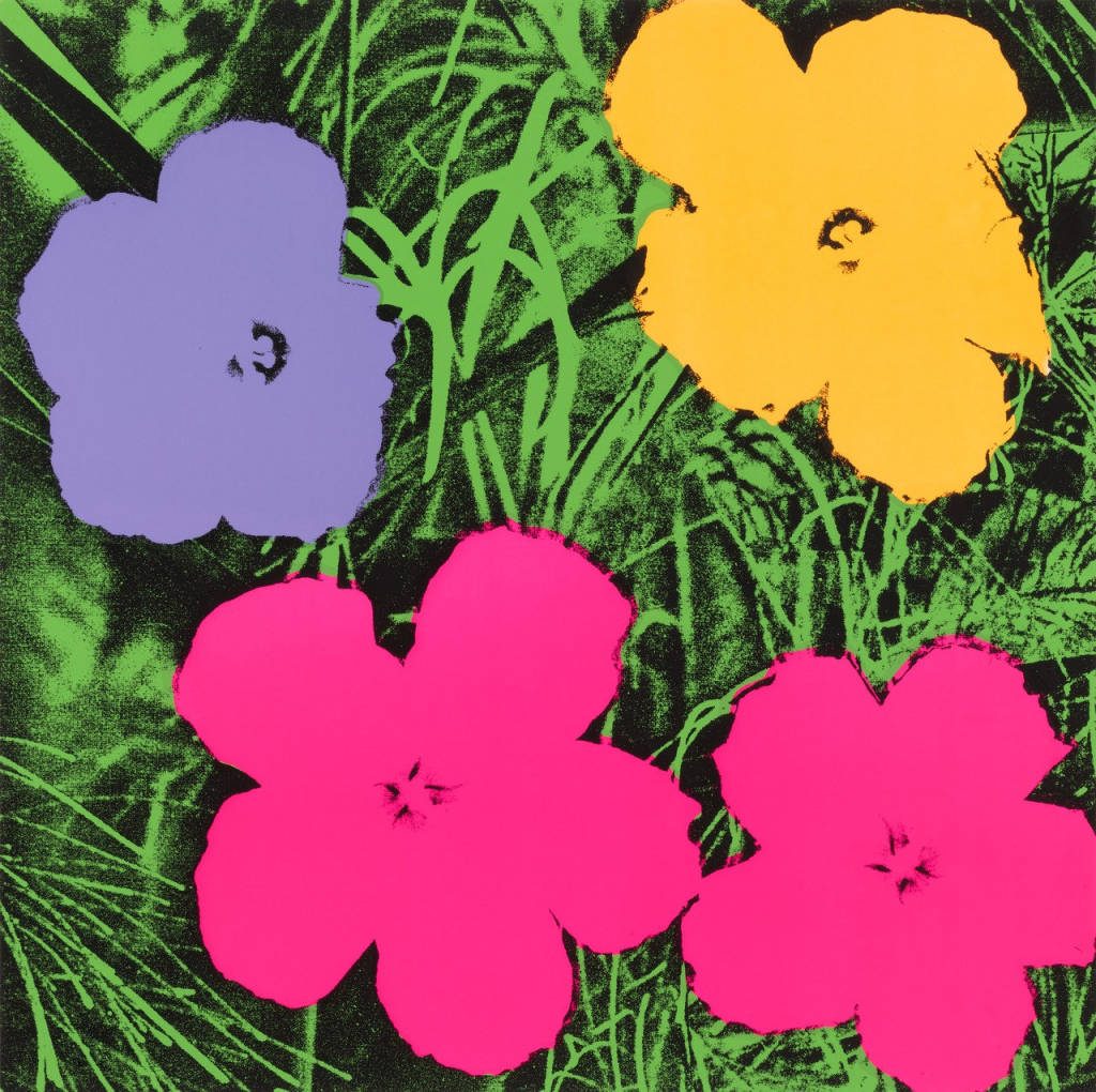 opere famose andy warhol flowers