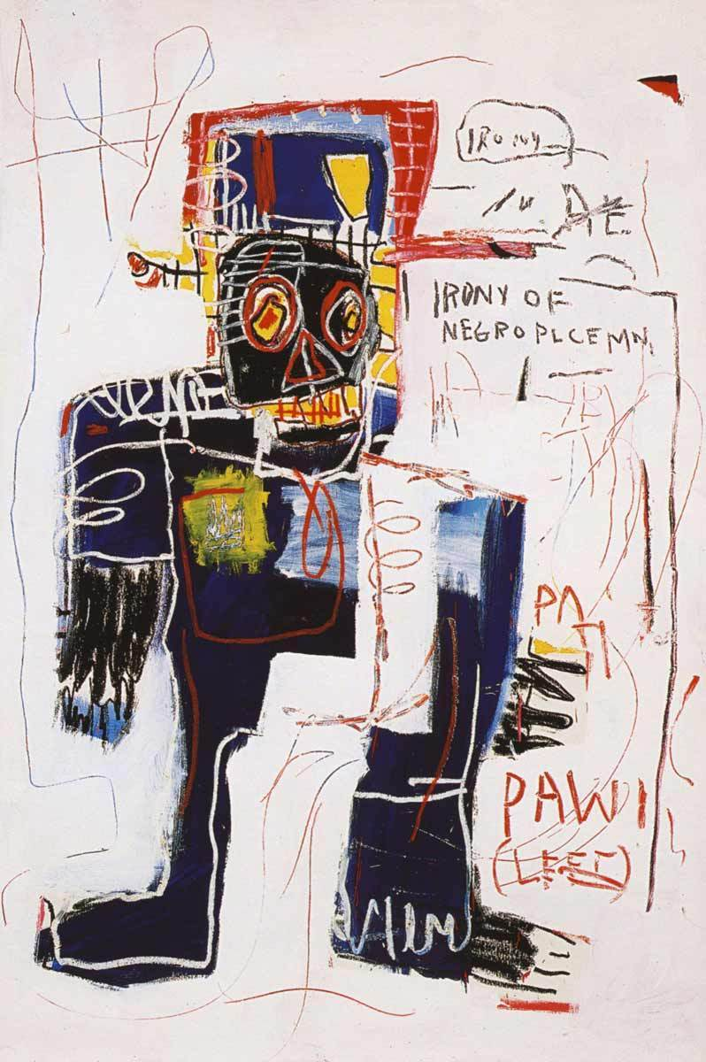 jean-michel basquiat opera irony policeman