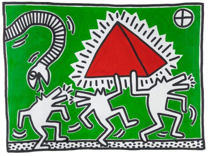 Mostre arte inverno 2020 - Palazzo Magnani Keith Haring Untitled (Egypt) - © Roberto Marossi