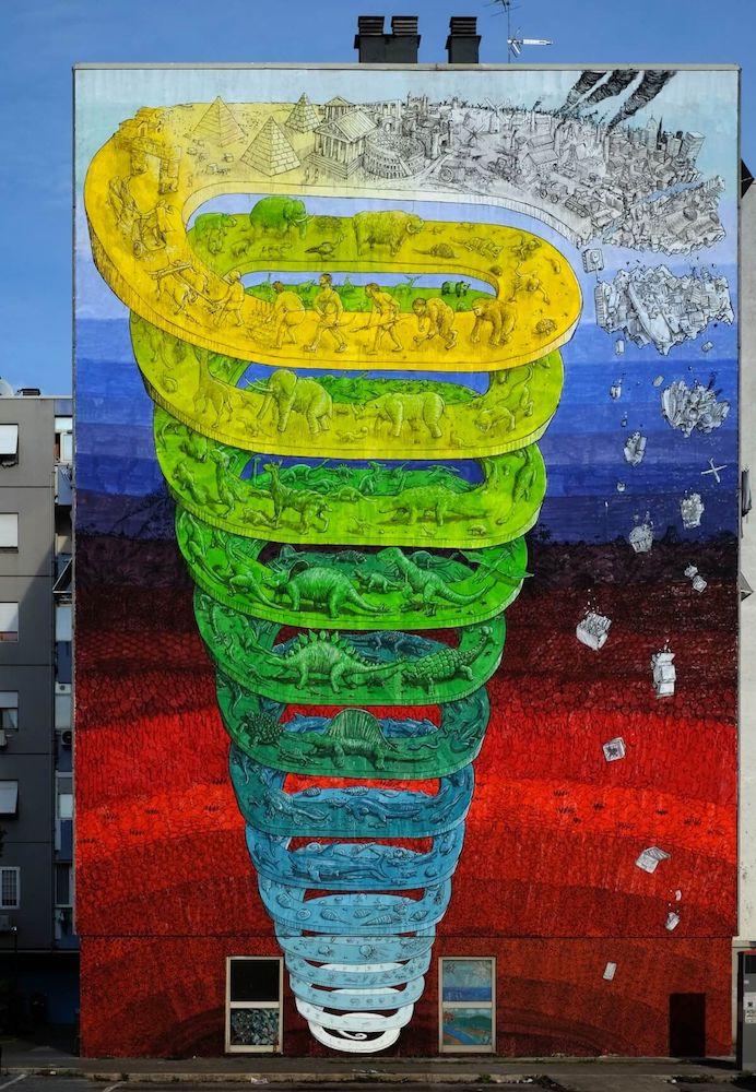 blu artista dove trovare le sue opere spirale